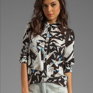 Style Stalker Shattered Glass Blouse NWT